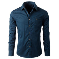 High Quality Men S Shirts 100 Cotton Brand Business Casual Spring Autumn Long Sleeved Camisa Masculina