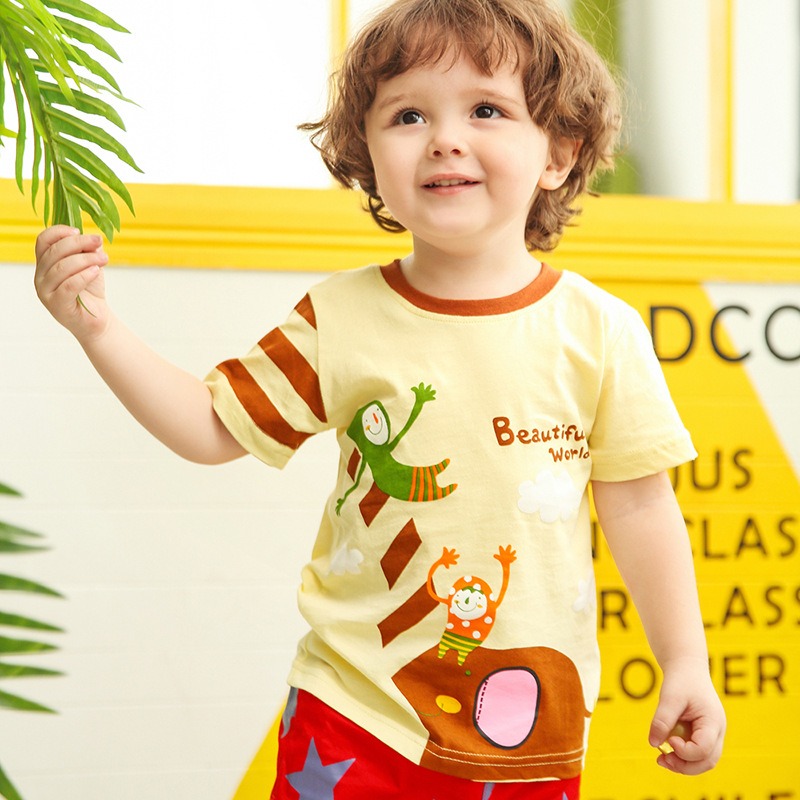 Beautiful World! Kids Boys Clothes Short Sleeve Kids tshirt for Boys 18Months to 6T