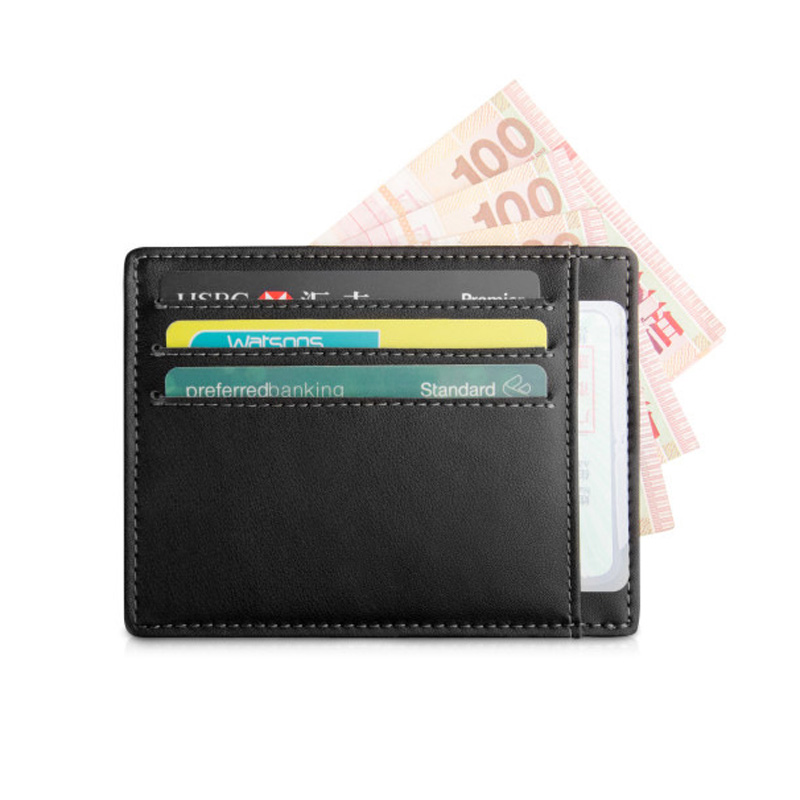 Brand New 2017 Genuine Leather Card Holder Credit Card Case Money Organizer Men Wallets Short Mini Wallet Clutch Purse Fashion