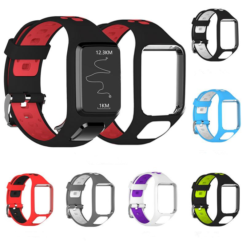 Silicon Replacement Watch Band For TomTom 2 3 Series Runner 2 3 Spark Golfer 2 Adventurer