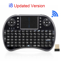 Original Air Mouse i8 Mini Teclado Inalámbrico 2.4G Inglés QWERTY Teclado Para Juegos USB Teclado Touchpad Para Android TV Box Laptop