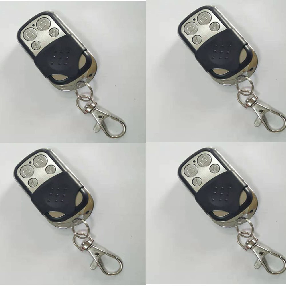 4 X Wolf-Guard 433MHz Wireless Black&Silver Remote Control Keyfobs Cover Button For Home Alarm Sceurity Burglar System YK-06