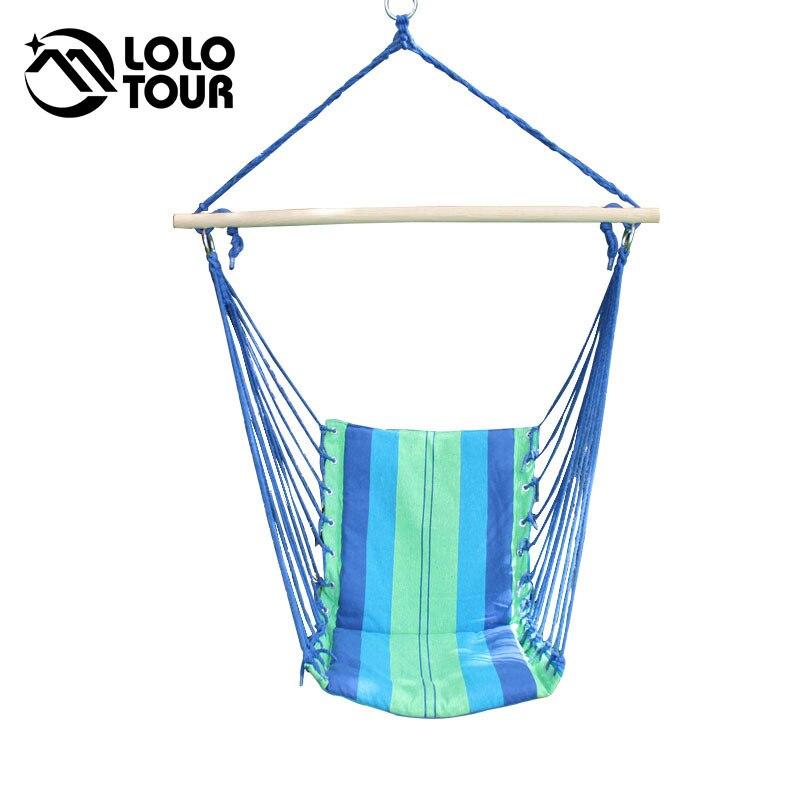 Indoor Outdoor Garden Patio Swing Single Children Hanging Camping Chair Hangmat Hammocks Outdoor Furniture Canvas Red Blue SW12