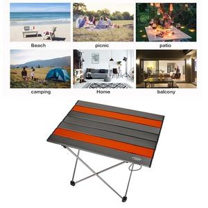 Image 5 - Portable Folding Table Ultralight Aluminium Alloy Outdoor Camping Picnic Table Desk Multi Tool Outdoor Tools