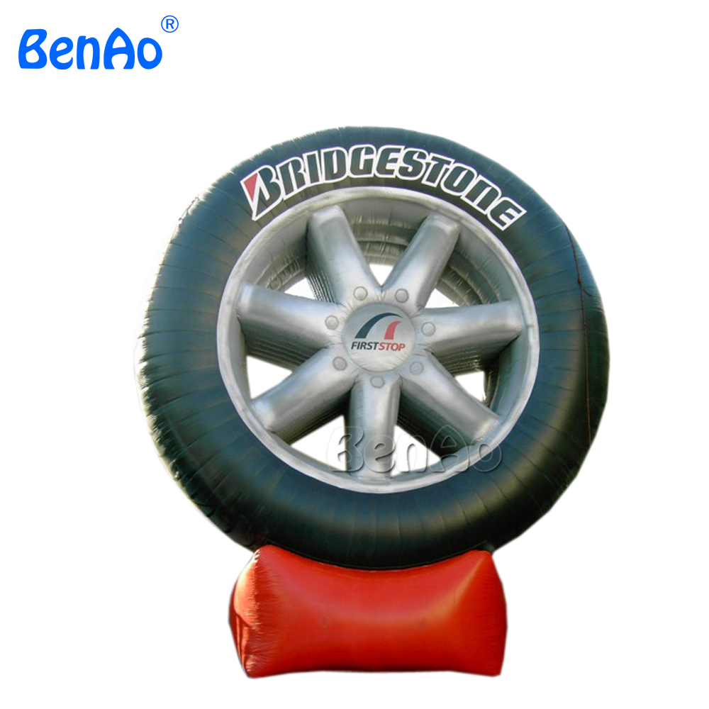 Z146 Inflatable Tyre Model, Event Advertising Tyre Product, Car Shape Inflatable.inflatable tire balloon to increase tire sales ao058r 2m sky balloon new brand attrative pvc helium balloon custom advertising inflatable balloon