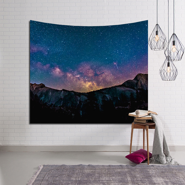 LYN&GY Beautiful Candle Night Sky Wall Tapestry Home Decorations Wall Hanging Forest Starry Tapestries For Living Room Bedroom 5