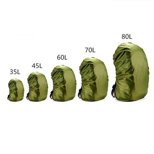 Adjustable Waterproof Dustproof Backpack Rain Cover Portable Lightweight Hiking Adventure Outdoors