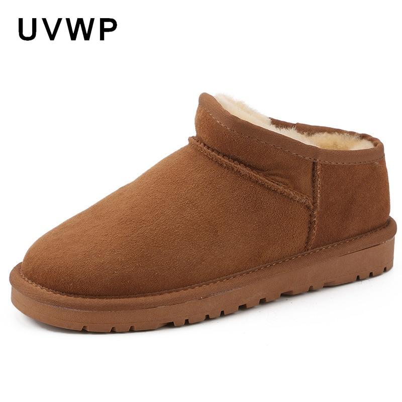 Nuevo diseño botas de nieve para mujer botas de invierno botas de piel de oveja genuina 100% piel Natural mujer moda botines zapatos-in Botas de nieve from zapatos    1