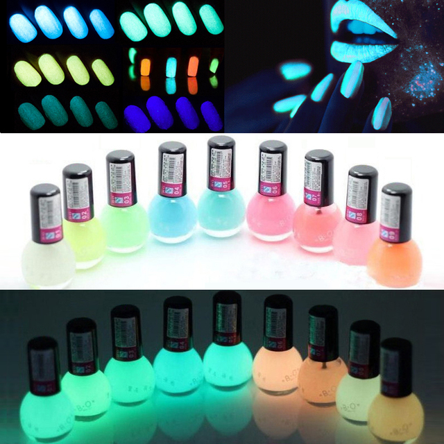 1Pcs 12 colors Fluorescent Neon Luminous Gel Oil Matte Nail Polish ...