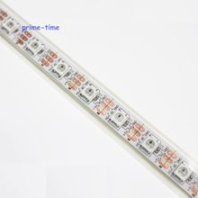 4m/5m WS2812B Smart led pixel strip, Addressable induvidual Full Color, 60led/m waterproof in tube IP67 DC5V free shipping