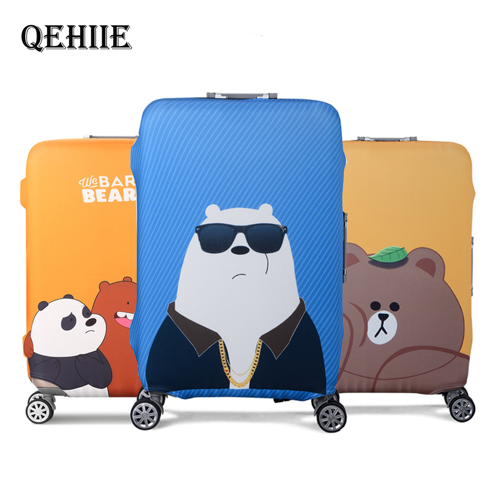 Hot Travel Accessories Stretch Suitcase Cover Cartoon Stupid Bear Luggage Professional Protection Cover For 18 - 32 Inch Trolley
