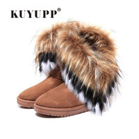 Women Ankle Boots Plush Winter Warm Snow Boots Platform Shoes Woman Round Toe Female Winter Shoes