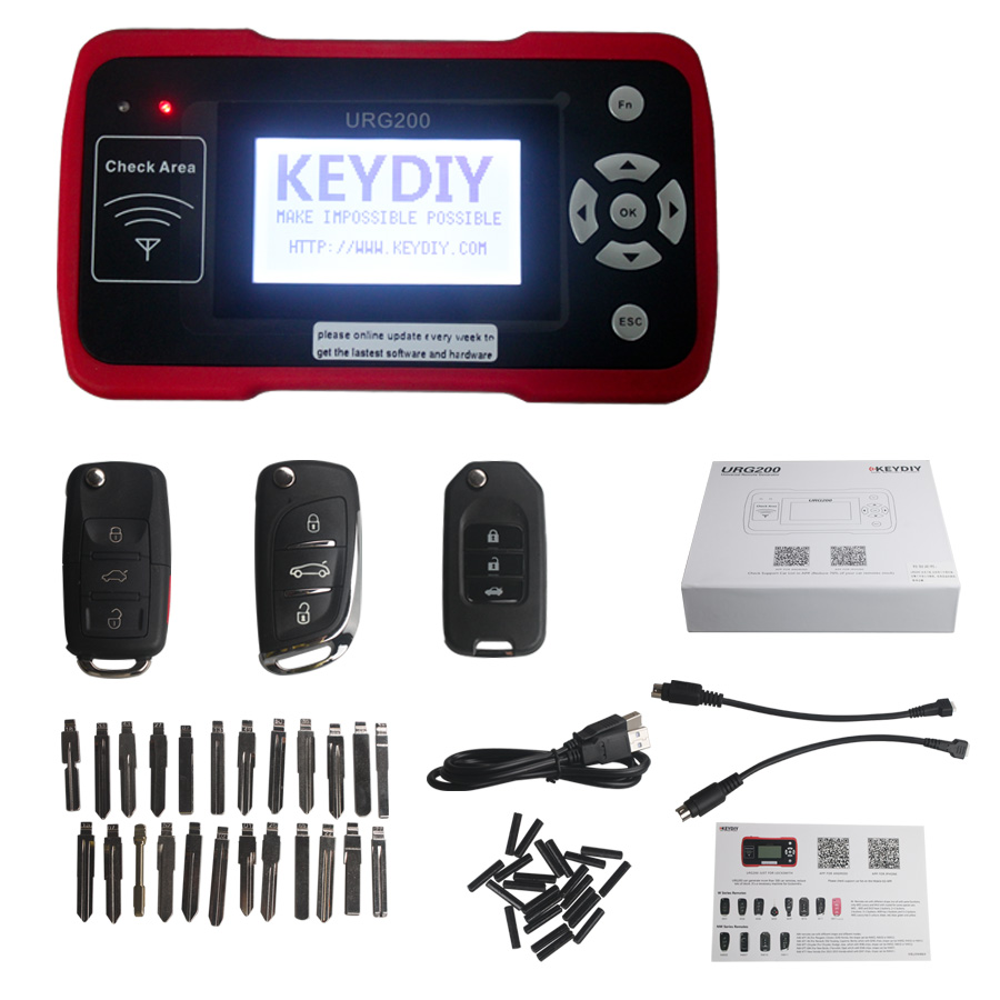 Keydiy urg200 remote master auto key programmer same function with kd900 named as urg200 chinese mark