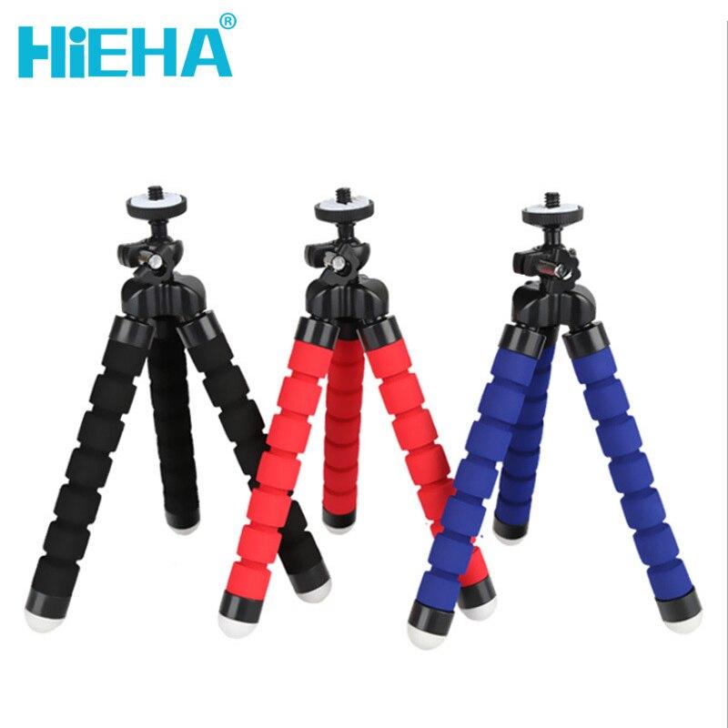 hieha Mini Tripod Action font b Camera b font Accessories Portable Flexible Sponge Octopus Tripod Stand