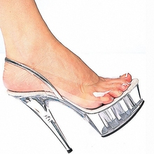 Promotion 15cm high-heeled shoes fashion crystal shoes the women's shoes Clear 6 Inch Stiletto Heel Sandals Exotic Dancer shoes