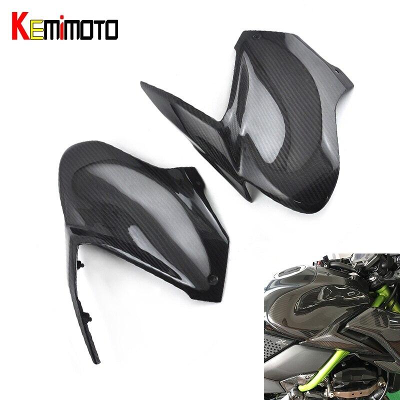 KEMiMOTO для Kawasaki Z900 2017 боковой бак крышка для Kawasaki Z900 З 900 Мото аксессуары запчасти бензобак Крышка обтекатель из углеродного волокна