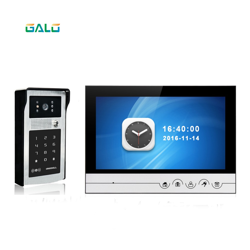 9inch color tft lcd good night vision video door phone for villa9inch color tft lcd good night vision video door phone for villa
