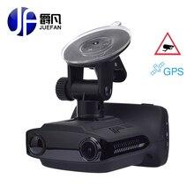 Juefan Многофункциональный Автомобильный видеорегистратор GPS DVR Радар-детектор overspeed приглашение FHD1296P Регистраторы Русский язык автомобиля Камера тире камеры