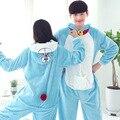 Adultos Invierno Doraemon de Dibujos Animados Lindo Pijama de Franela Pijamas Trajes Disfraces Cosplay Adultos Onesies Animales Pijamas de las mujeres ropa de dormir