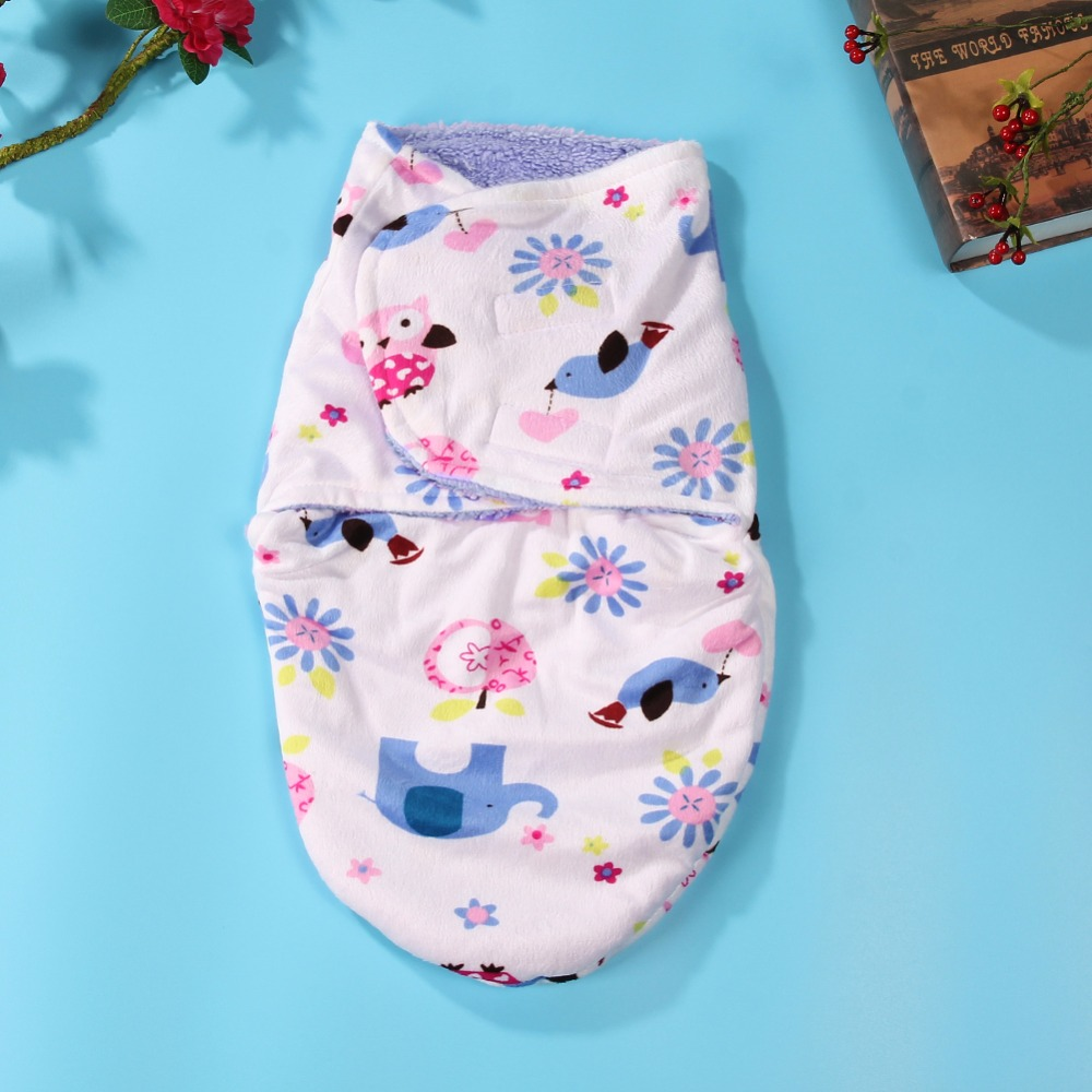 Double-Layer-Sleeping-Bag-Baby-Short-Plush-Swaddling-Clothes-Newborn-Sleep-Sacks-Warm-Clothes-Girl-Boys-5