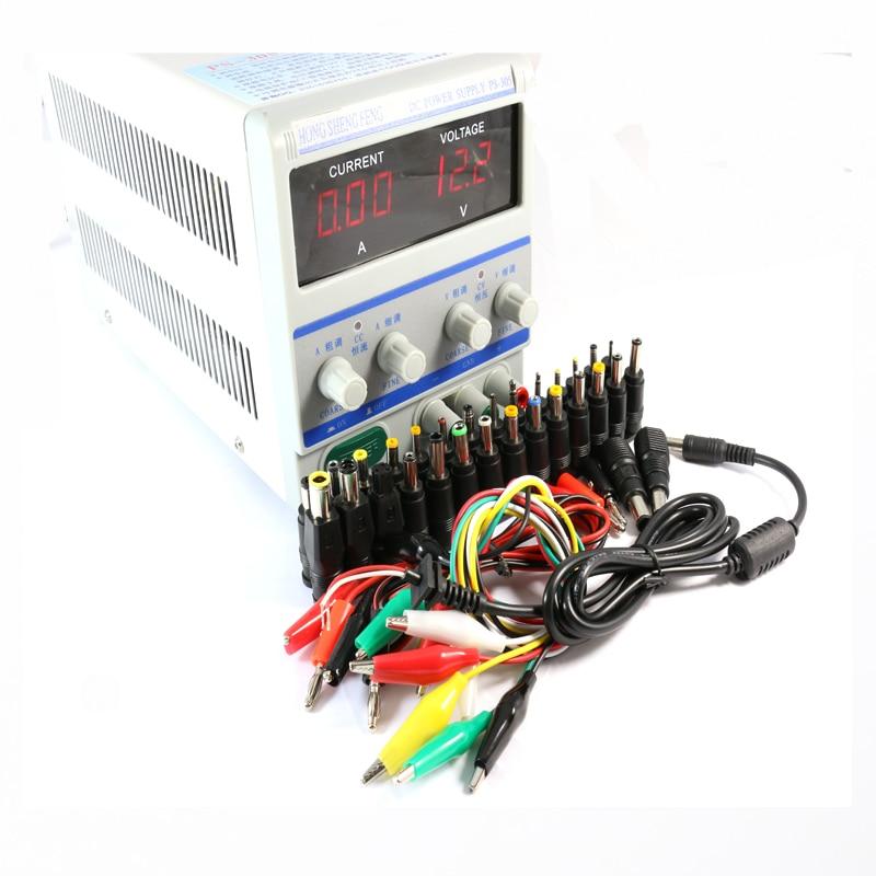 PS305/PS-305 220 v/110 v Laboratoire Programmable DC Alimentation commutateur 30 v 5A + 39/ pcs Réparation Ordinateur Portable DC Jack