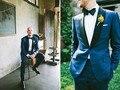 Das3334 самым продаваемым синий костюмы один кнопки свободного покроя носить нагрудные воротник на заказ тонкий невесты жених смокинги для свадьбы