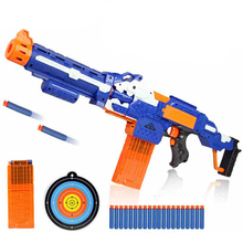 цена Electrical Soft Bullet Toy Gun Pistol Sniper Rifle Plastic Gun Arme Arma Toy For Children Gift Perfect Suitable for Nerf Toy Gun в интернет-магазинах