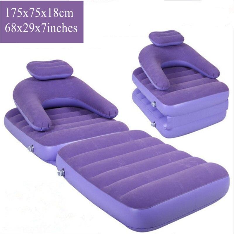 Chaise gonflable pour adulte troupeau gonflable canapé lit pliant coussin pour salon chambre chaise extérieure avec pompe de gonflage