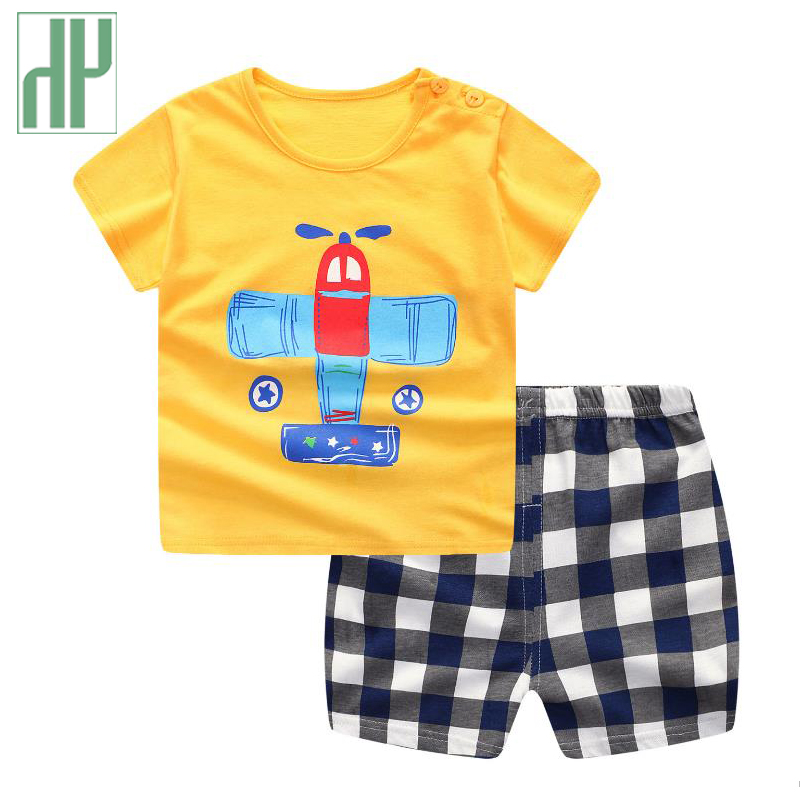 HH children clothing toddler girls summer clothing Short Sleeve T-shirt+Shorts Pants casual kids sport suits tracksuit for boys