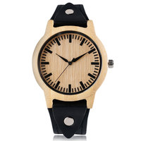 Rock Wooden Watches Men Genuine Leather Strap Punk Style Modern Bangle Nature Wood Case Casual Women