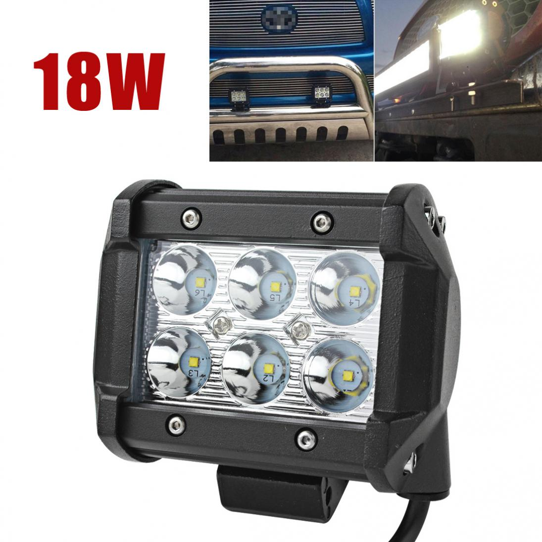 1 Piece 1440LM 6000K 18W Super Power Waterproof LED Car Work Light For Motorcycle / Tractor / Boat / 4WD Offroad / SUV / ATV