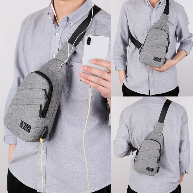 Chest-Bag Waist-Pack Fashion-Style Men Can-Charge Hot-Sale Men's High-Quality