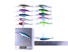 48pcs Fishing Lure set Mixed 5 Model Minnow Lure isca Artificial Professional Crankbait pesca Wobblers bass carp Fishing Tackle
