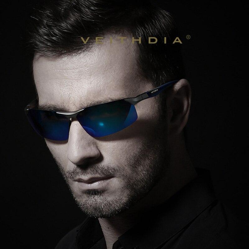VEITHDIA Hliníkové hořčíkové brýle Polarizované sportovní Pánské potahy Zrcadlo Pohánění Sluneční brýle Okulos Příslušenství pro brýle