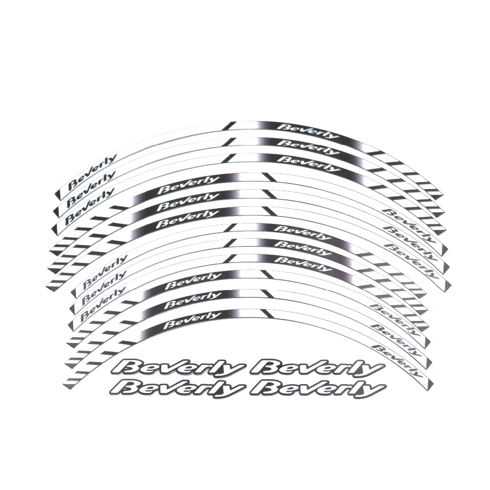 Motorcycle thick edge reflective sticker wheel yi decal