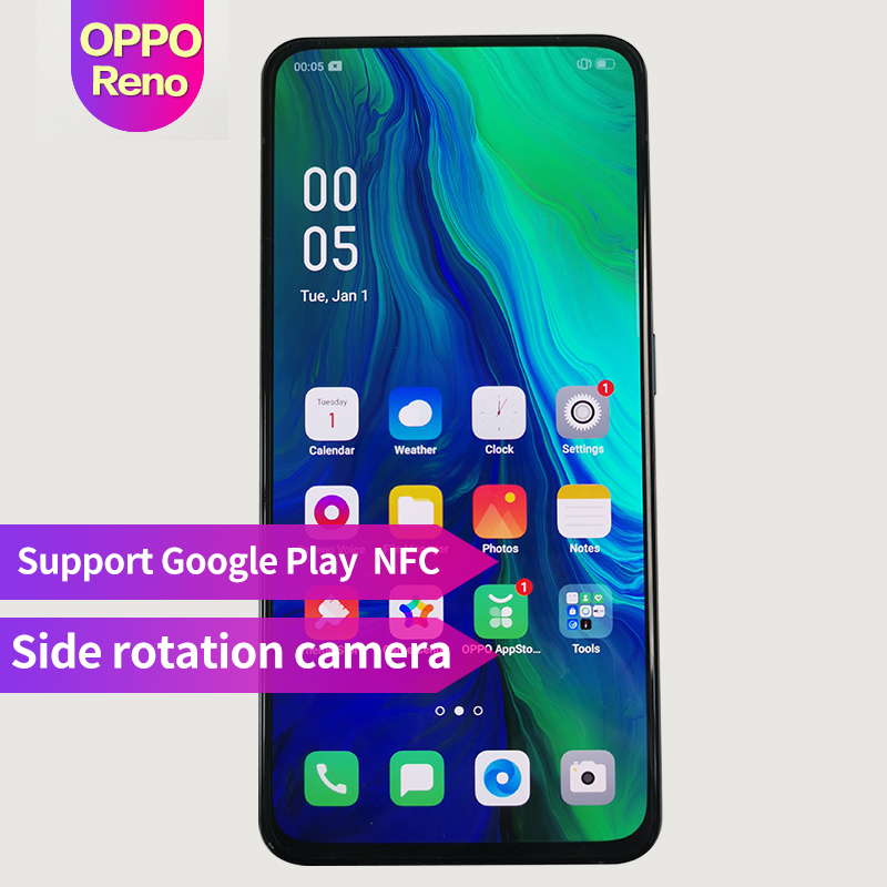 OPPO Reno New Arrival 6.4 inch 3765mAh Fingerprint ID Smart phone Qualcomm710 Support NFC 2340*1080 Octa Core 3 Cameras 48MP+5MP