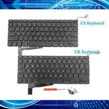 Новая клавиатура A1286 US UK для Macbook Pro 15,4 дюймов A1286 Клавиатура для ноутбука+ винт+ отвертка 2008 года