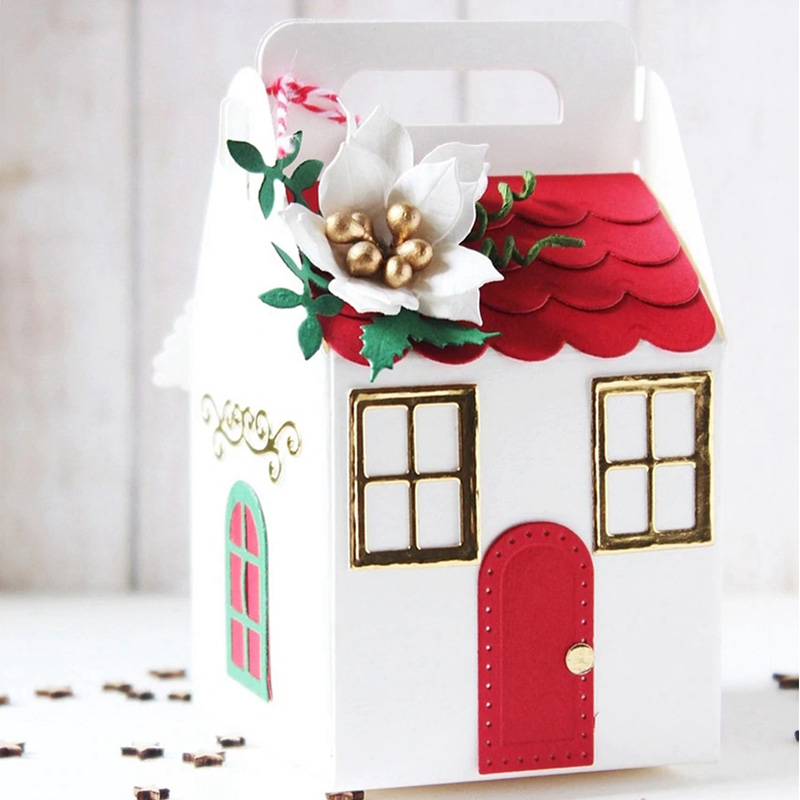 Warm House Box Tree Decro Metal Cutting Dies Stencils For DIY Scrapbook Christmas Decorative Embossing Craft Die Cutting MoldWarm House Box Tree Decro Metal Cutting Dies Stencils For DIY Scrapbook Christmas Decorative Embossing Craft Die Cutting Mold