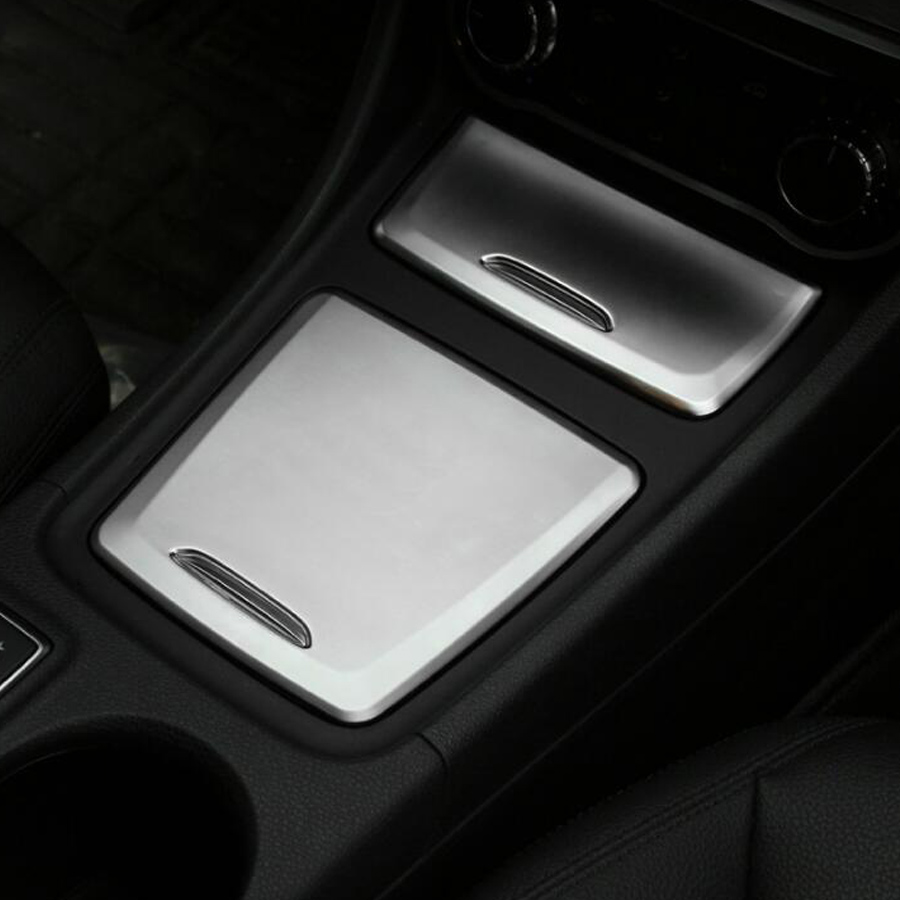 YAQUICKA Car Interior Storage Box Ashtray Cover Trim Styling Sticker For <font><b>Mercedes</b></font> Benz <font><b>CLA</b></font> GLA A Class <font><b>W117</b></font> W176 A180 2014-2017 image