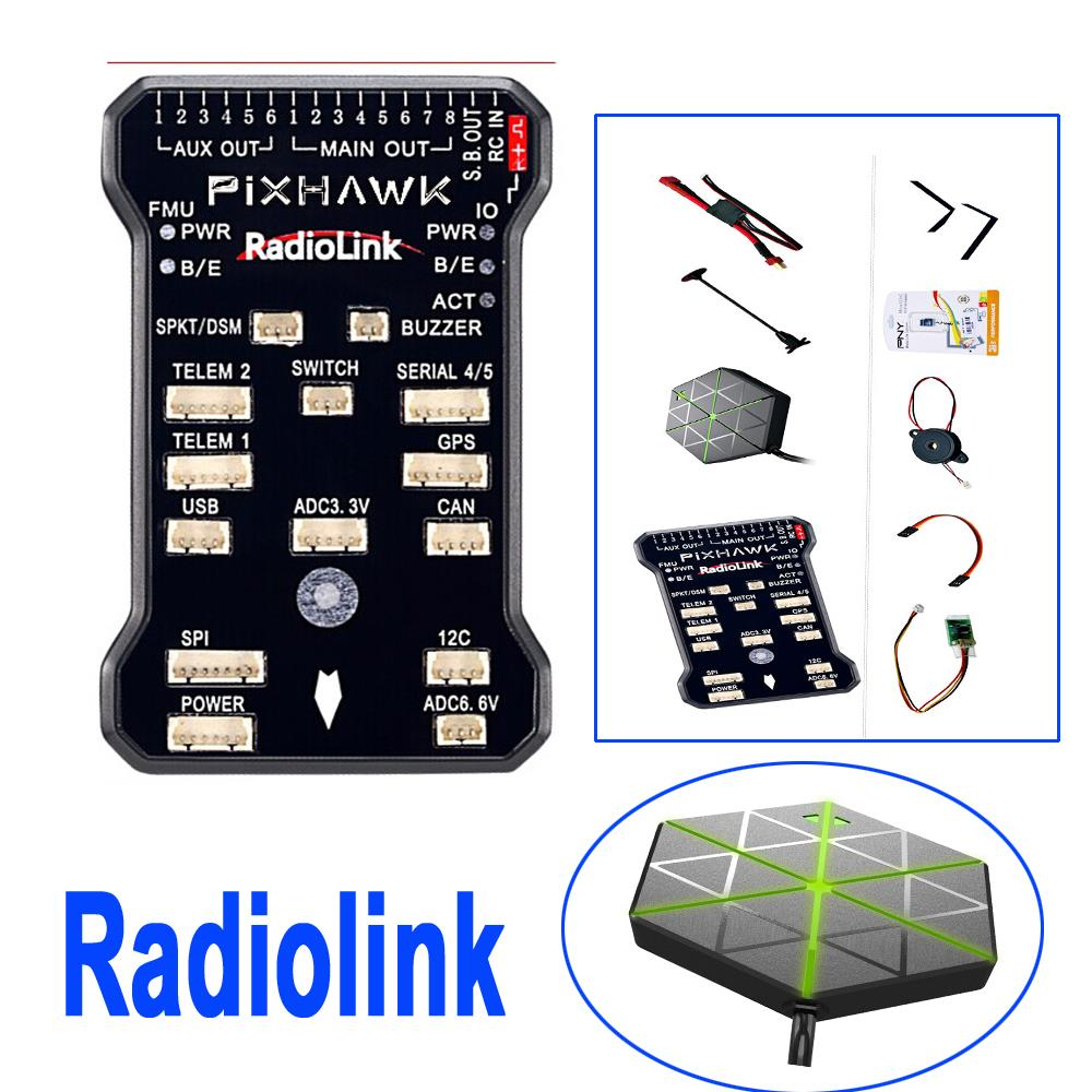 Radiolink PIX 32 Bit 8G Flight Controller & M8N GPS Combo Set for AT9/AT10 Remote Controller OSD DIY RC Multicopter Drone f16949 micro pix 32 bit arm flight controller pxi px4 pix 2 4 6 upgraded mini board for diy fpv rc drone multicopter quadcopter