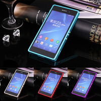 For Sony Z 2 Z2 Case Pull Push Metal Bumper Frame Cover Case For Sony Xperia