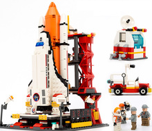 Spaceport Space Shuttle Blocks 679pcs Bricks Building Block Sets Classic Educational Toys For Children  8815