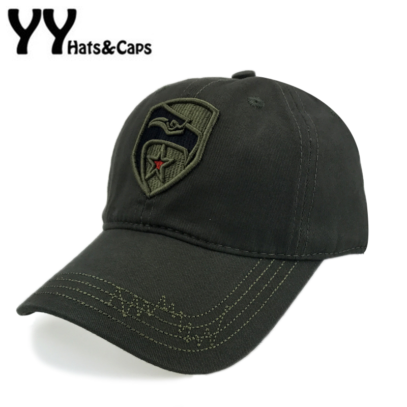 Embroidery Eagle Army Baseball Cap Men Cotton Fitted Hat Leisure Star Tactical Snapback Women Camo CAP Gorra Casquette YY17197 cotton camouflage baseball cap for men women snapback caps tactical hat camo army cap summer sniper adjustable visor