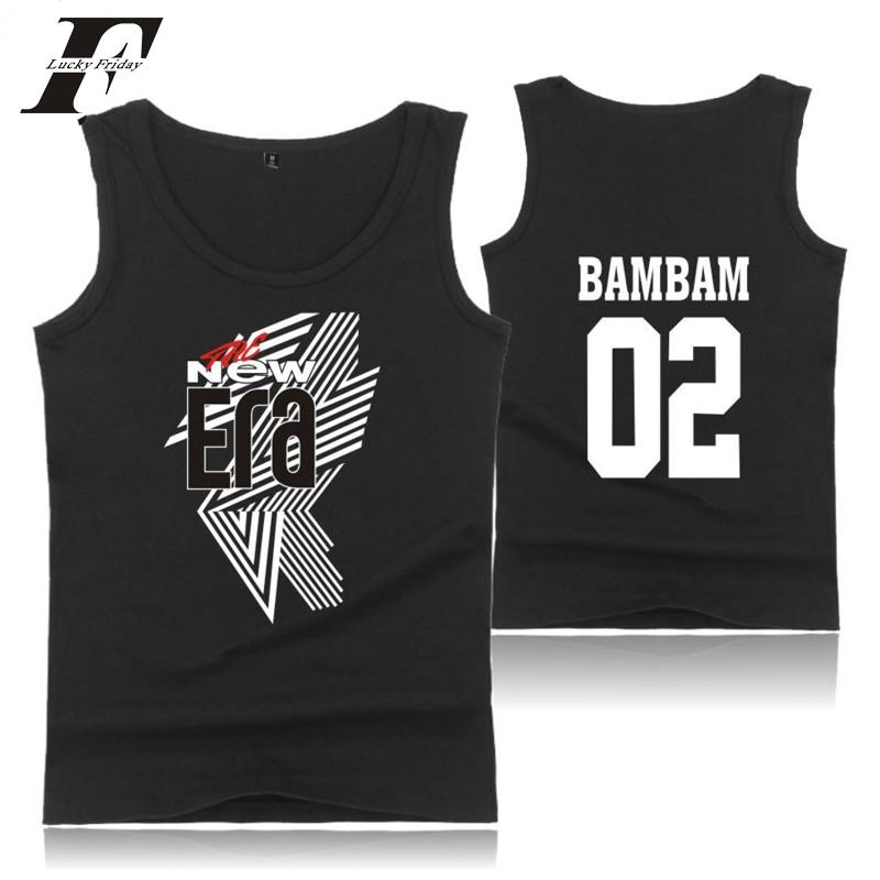 LUCKYFRIDAYF 2018 FM The New Era GOT7 Idols JR. 22 Men Sexy Cool Summer Popular Hot Sale Vest Sleeveless Shirt Funny Fashion