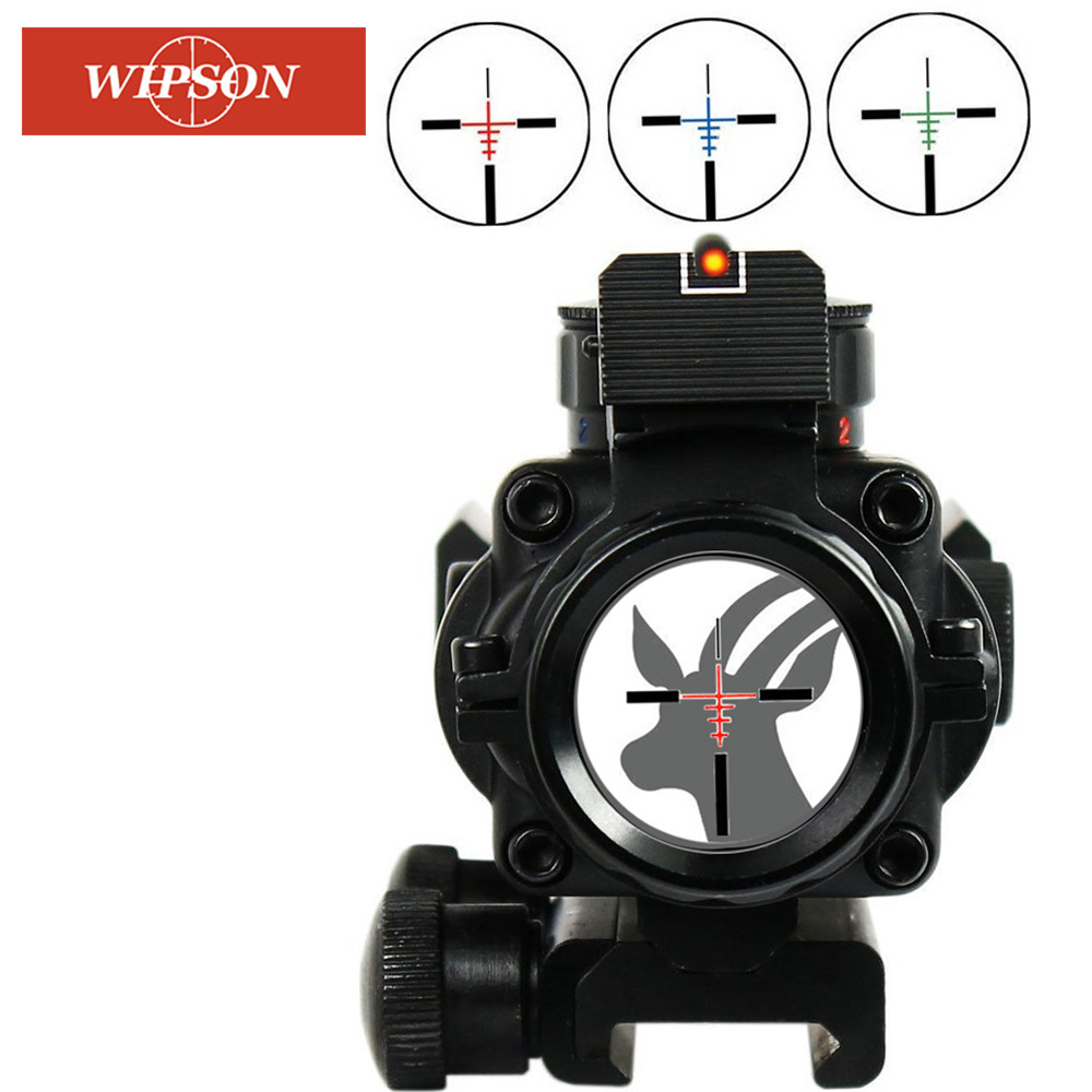 WIPSON Gun Riflescope Acog 4x32 Rifle Scope Reticle Fiber Optic Sight Scope Rifle/airsoft Gun Hunting Airsoftsports Gun