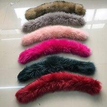 Soperwillton натуральный мех енота воротник зимнее женское пальто с капюшоном шарфы сплошной цвет мех енота шеи шарфы красный#1