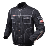 Motorcycle locomotive with protective gear stand collar denim Clothing leisure anti wrestling jacket 712 Loose