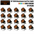 TIPTOP свет этапа 20 шт./лот 18x15 W 5in1 RGBAW Алюминия DMX LED телевизор с Номинальной Может, янтарный Цвет строб мыть эффект Для Диско-Клуб партия