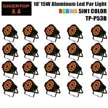 TIPTOP свет этапа 20 шт./лот 18×15 W 5in1 RGBAW Алюминия DMX LED телевизор с Номинальной Может, янтарный Цвет строб мыть эффект Для Диско-Клуб партия