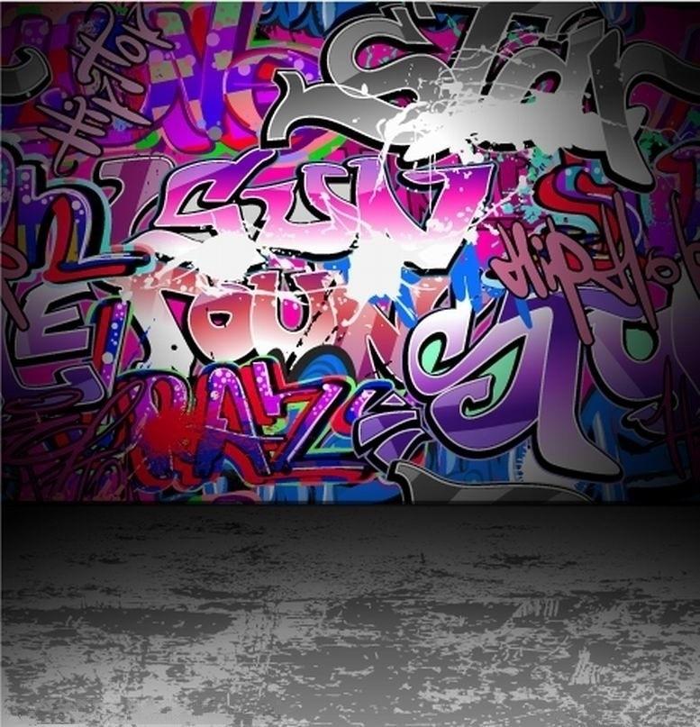 Graffiti Art Wallpapers Group 71: SHANNY Vinyl Custom Photography Background Props